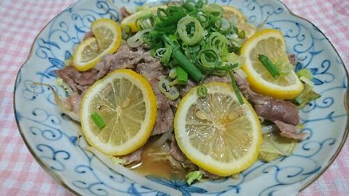 簡単野菜と豚肉のレンチンレモン蒸し   【糖質6.1g】