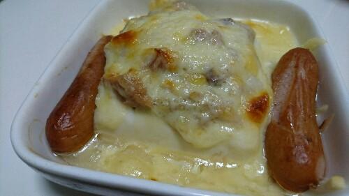 豆腐とツナとチーズをレンチンしただけ!!のおかず【糖質3.9g】