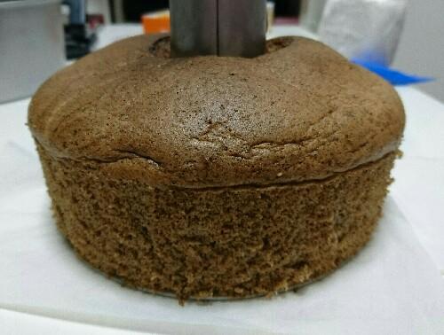 ふすま粉で紅茶のシフォンケーキ【 ホール全部で糖質10.1g 】