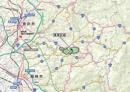 70 テストコース位置 愛知県HP