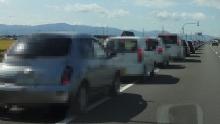 道の駅への道は大渋滞