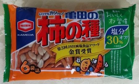 柿の種 減塩 6袋詰 118円