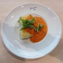 焼きリゾット スモーク紅鮭のトマトクリームソース