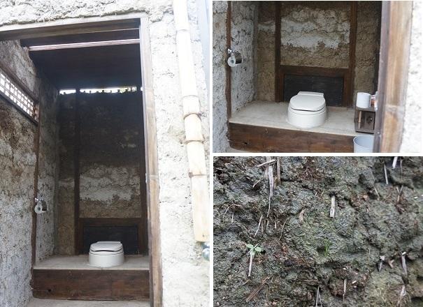 明神小屋のメンバーから、こだわりのトイレ内部も是非に紹介して、と