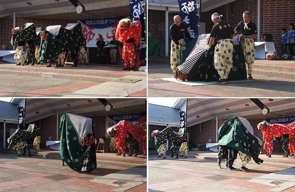 新庄獅子舞保存会(天松神社)のパフォーマンス