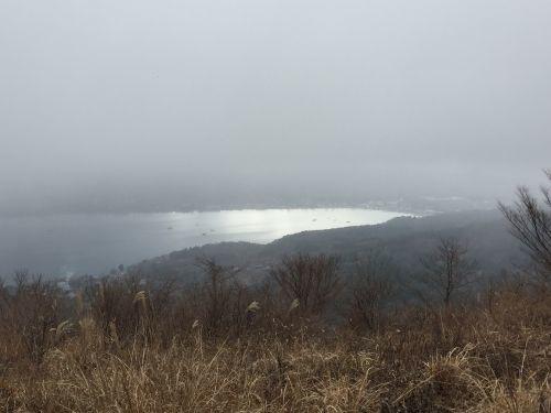 山中湖が輝いた