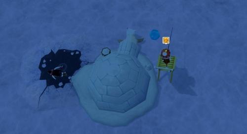星のワカサギ釣り イグルー釣り用のイス アデリーペンギン