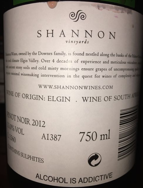 Shannon Vineyards Pinot Noir Elgin Valley 2012 part2