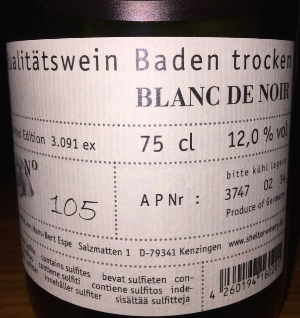 Blanc de Noir Shelter Winery Hans-bert espe und silke wolf 2013 part2