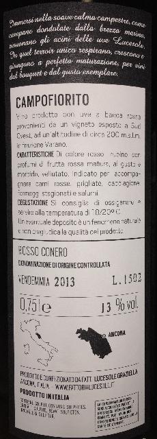 Rosso Conero Campofiorito Lucesole 2013 part2