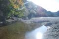 銚子川 堰上流 湧水地