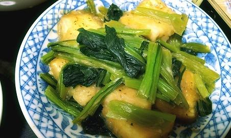 味噌入り小松菜