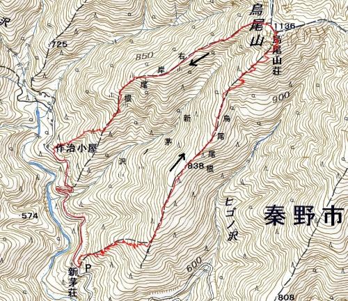 烏尾山軌跡
