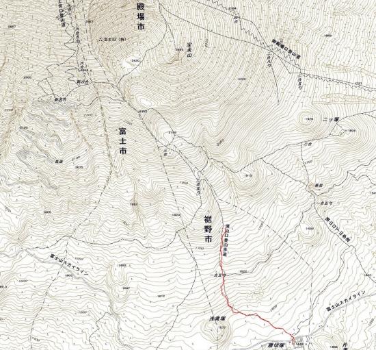 181217 宝永山軌跡