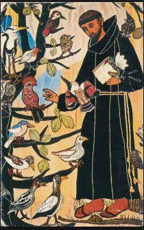 鳥と話すフランチェスコ
