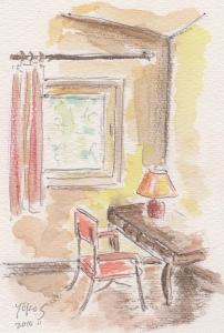 部屋の机 001