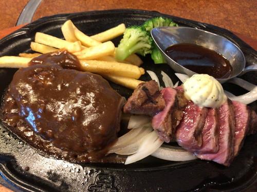 肉の万世 白石店(ステーキ、ハンバーグランチ)