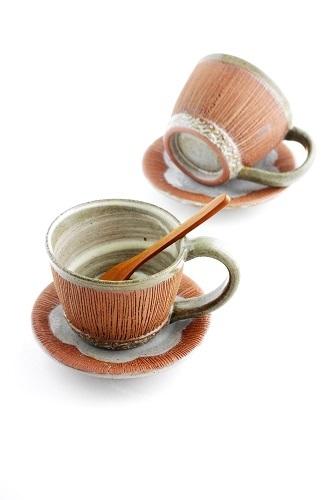 s-茶線皿×珈琲カップ1客