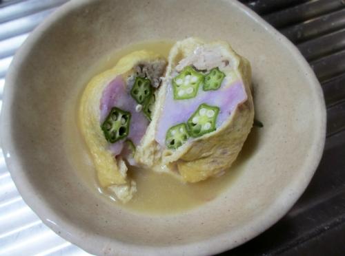 紫山芋の袋煮